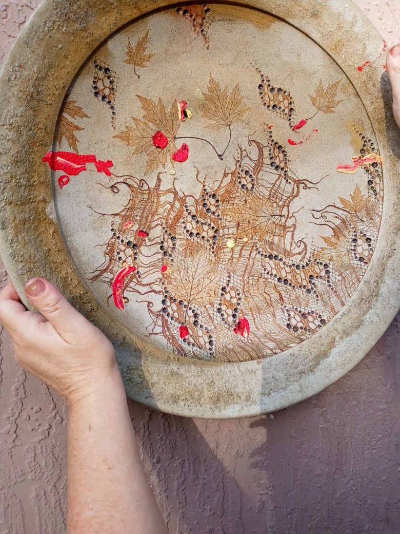 Hand Painted clay Plate