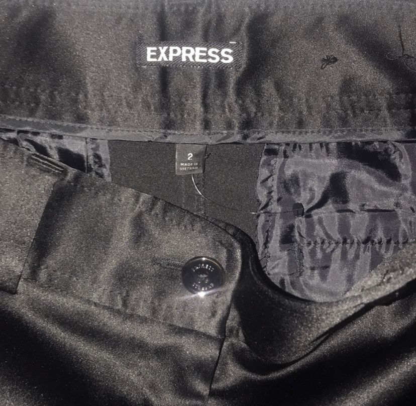 New Express black silk shorts for sale !!!