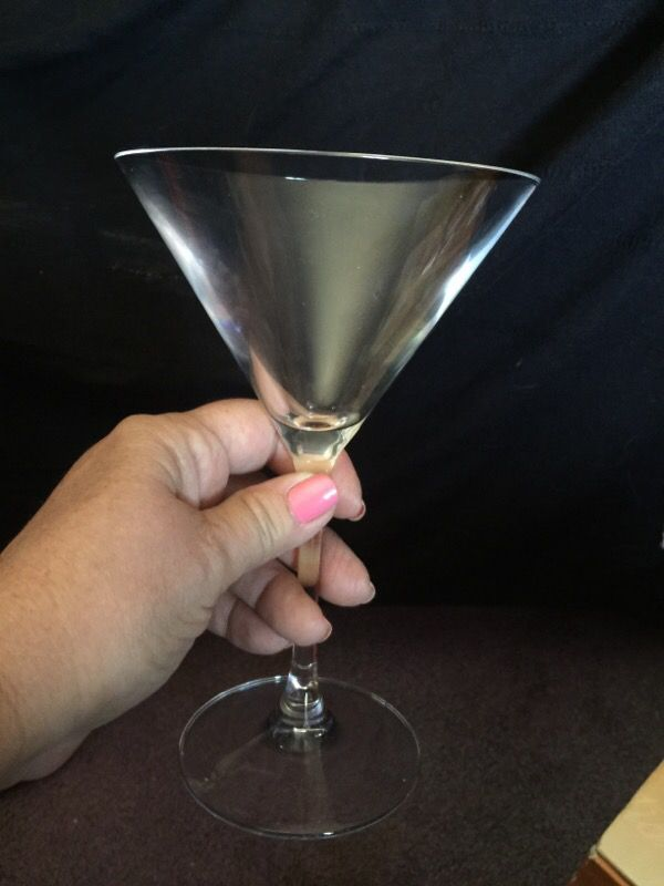 Cristal d'Arques France Martini glasses. What's your favorite Martini?