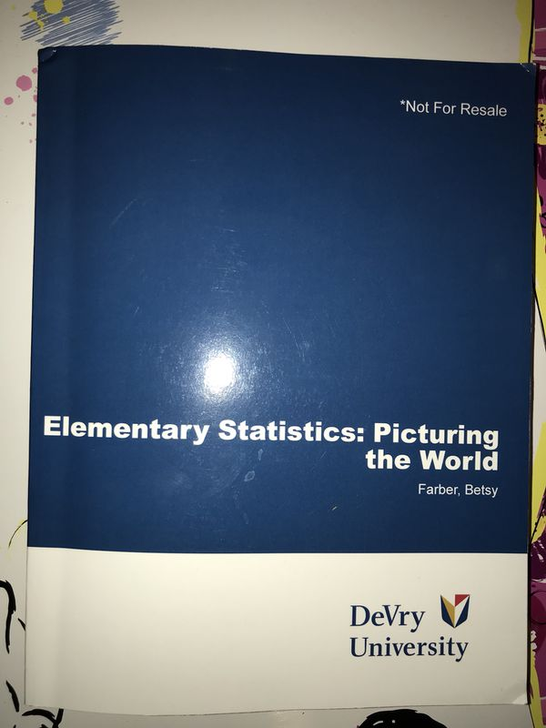 Elementary Statistics Book - Chamberlain College of Nursing for Sale in  Goodyear, AZ - OfferUp