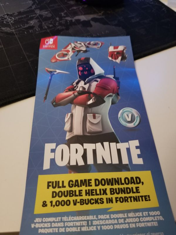 fortnite double helix and 1000 v coin code - double helice fortnite