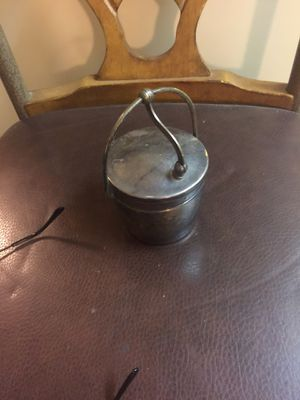 Silver plate hinges pot with cover and liner for Sale in Austin, TX