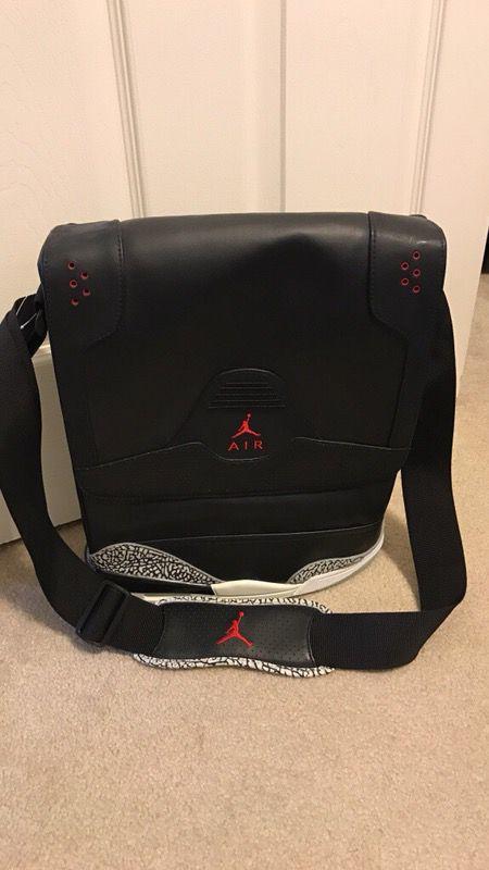 a822189cce air jordan retro 3 black cement messenger bag for Sale in Las Vegas ...