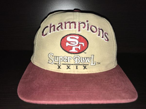 VTG San Francisco 49ers Super Bowl XXIX Champions Logo Athletic Snapback Hat  29 ca6842f16
