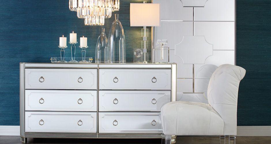 Brand New Unopened Z Gallerie, Z Gallerie Mirrored Dresser