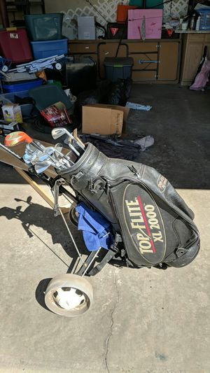 Photo Mizuno mp33 leather top-flight bag and Cart