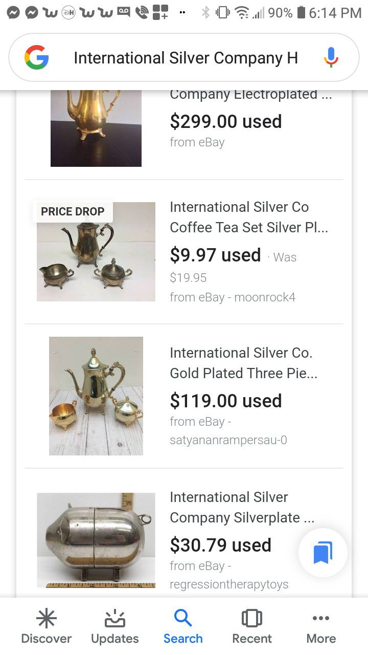 Vintage silver company tea set very heavy