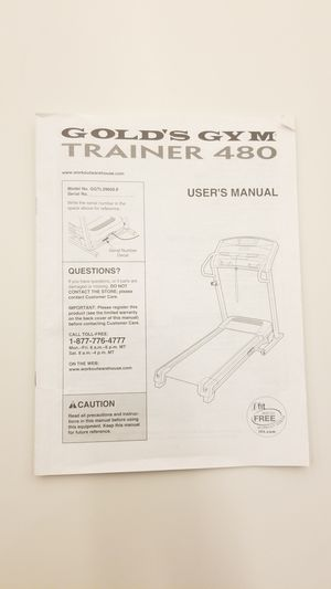 Photo TREADMILL Golds Gym Trainer 480