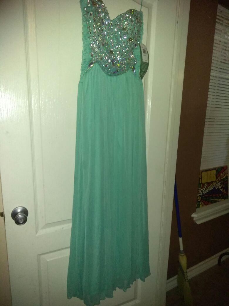 LADY NIGHT DRESS COLOR CELESTE NEW SIZE (15)