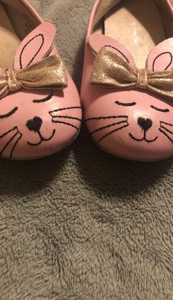 Chasing Fireflies pink bunny ballet flats Thumbnail