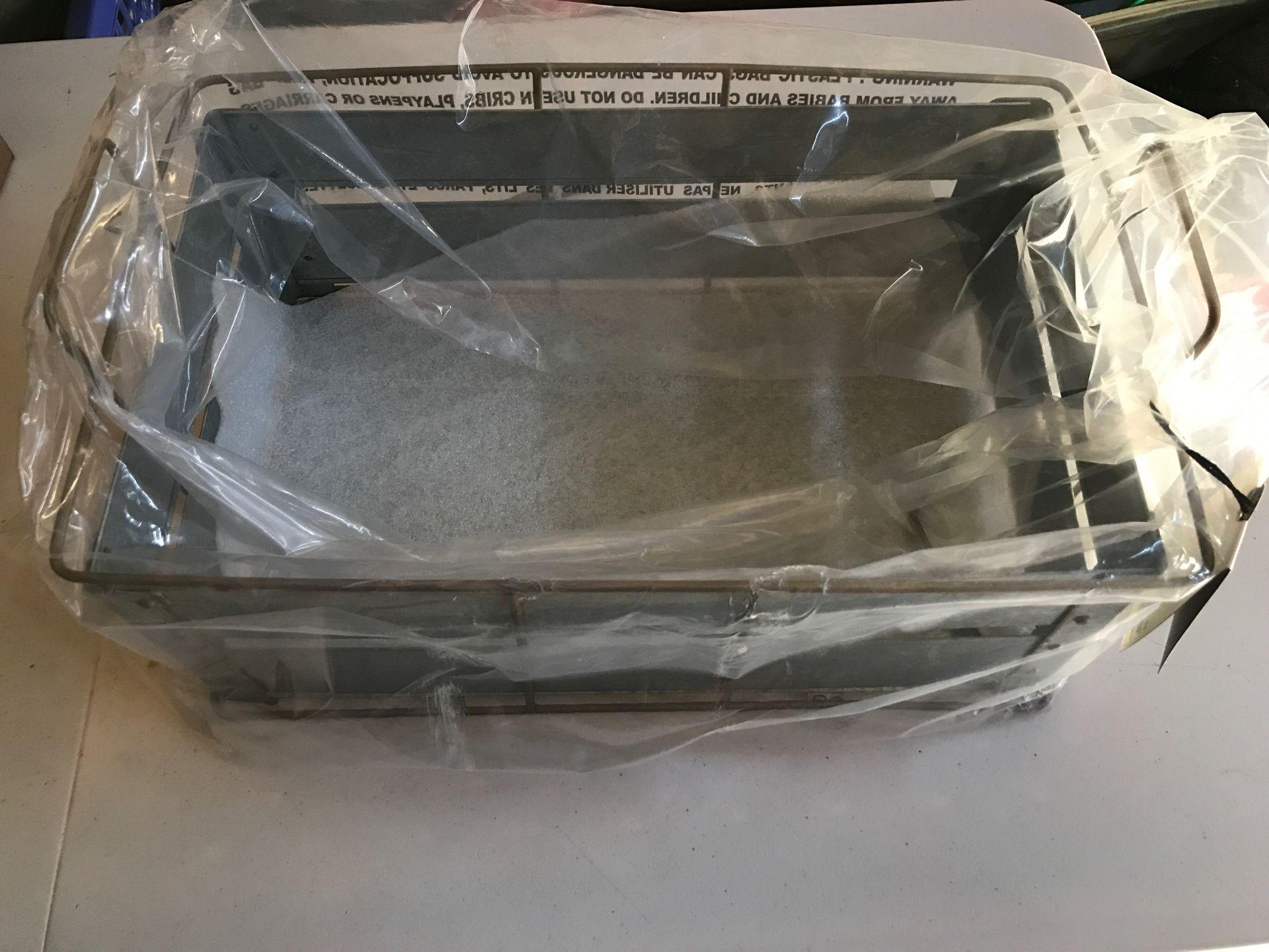 Storage bin galvanized metal