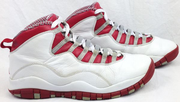 promo code ba2f4 de5db Air Jordan Retro 10 (X) White Varsity Red-Light Steel Grey Men s Shoes Size  8.5