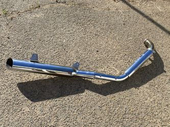 If Is Up Is Available! Suzuki Intruder Motorcycle, Bike Exhaust Pipes With Muffler. Make Me A Good Offer Thumbnail