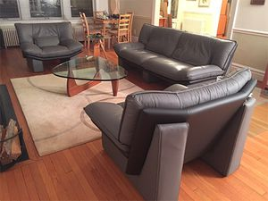 Nicoletti Salotti Italian Modern Leather Sofa Set for Sale in Westlake, MD