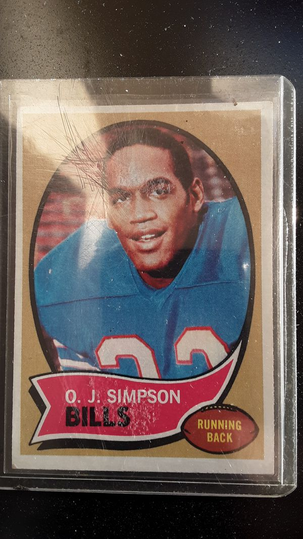 Topps 1970 Oj Simpson Rookie Card For Sale In Milpitas Ca Offerup
