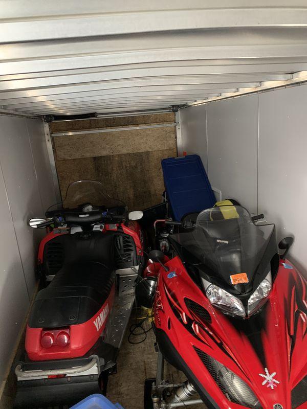 2 yamaha snowmobiles