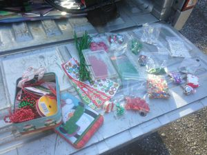 Christmas beads stickers bells crafters lot for Sale in Martinsburg, WV
