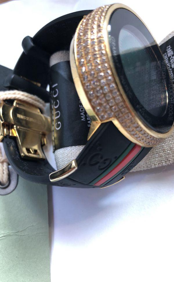 416de9c7a81 Gucci I-Gucci use Yellow Gold. diamond-tone Black Rubber Men s Watch ...
