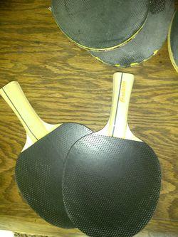 Ping-pong paddles USED!!! 3 sets Thumbnail