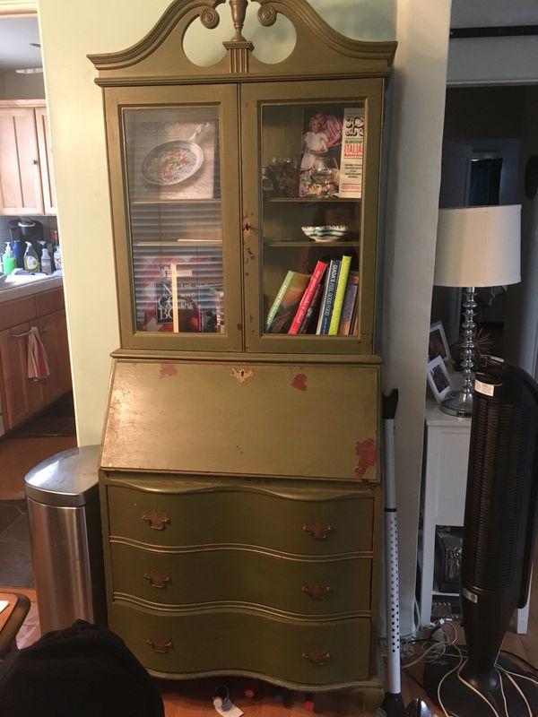 Remarkable Antique Secretary Desk Hutch Bookcase For Sale In San Diego Ca Offerup Download Free Architecture Designs Embacsunscenecom