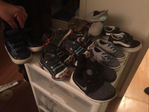 b1f9bdea599 Baby shoes size 7 and under toddler size and 30 for all for Sale in Hayward