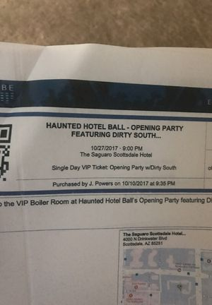 Haunted hotel ball dirty south edm VIP for Sale in Laveen Village, AZ
