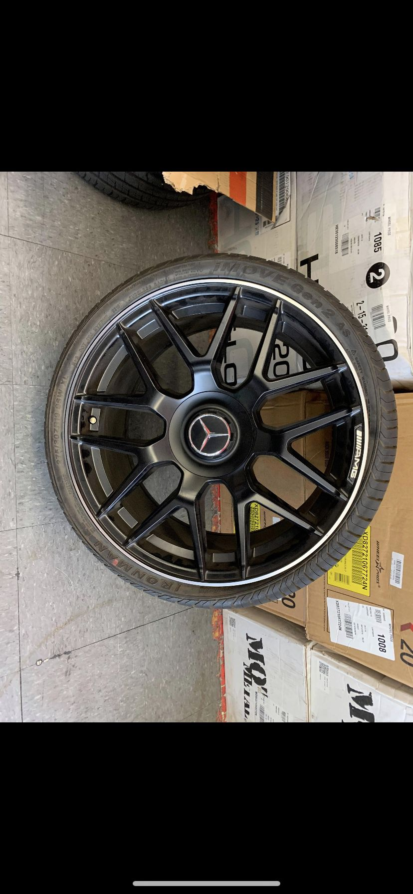 "Mercedes 19"" new amg style rims tires set"
