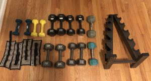 Exercise equipment- dumbbells and weight rack for Sale in Annandale, VA
