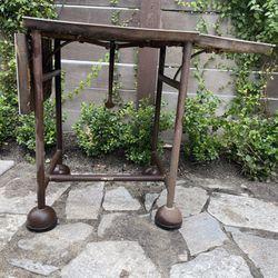 Vintage iron telephone stand base Thumbnail
