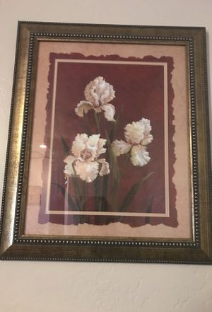 2 Picture frames and 2 lamps flower design for Sale in Phoenix, AZ