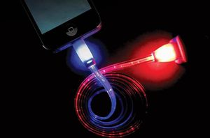 Photo Smiley Micro USB Cable LED Light Up Color Change USB Data Sync Charging Cable with Colored Ends for iPhone