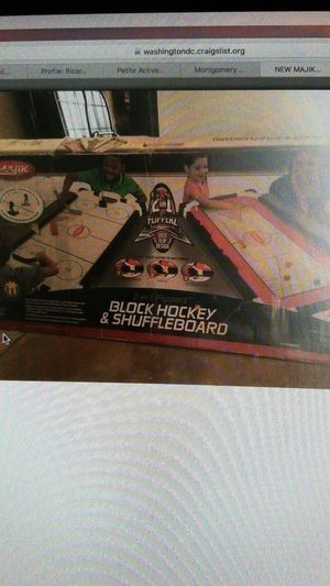 New majik hockey and shuffle board game for Sale in Silver Spring, MD