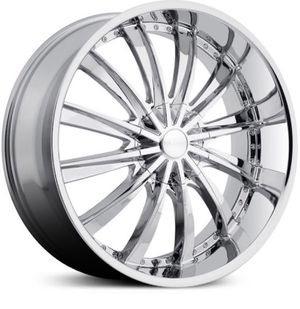Photo 22 inch Elure New Chrome Wheels 5 Lug Universal New Tires 265/35/22