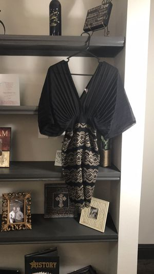Sexy Black and Gold Statement Dress for Sale in Houston, TX