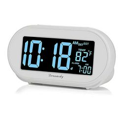 Auto Time Set Alarm Clock with Snooze and Dimmer,Charging Station/Phone Charger with Dual USB Port .Auto DST Setting,4 Time Zone Optional Thumbnail