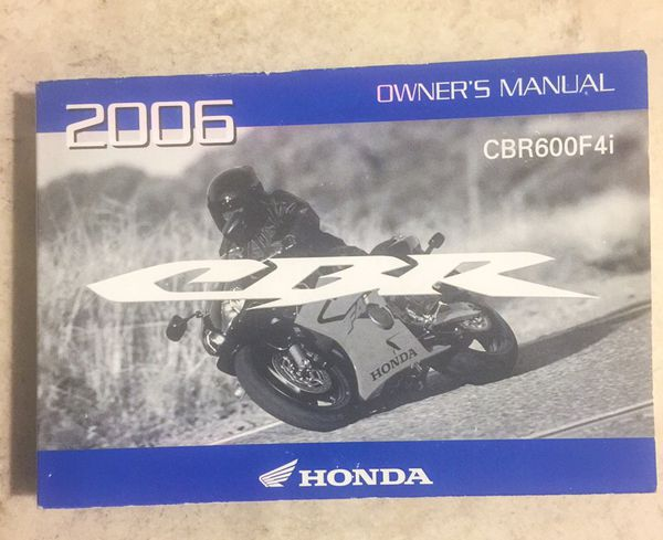 2002 honda cbr 600 f4i owners manual #249 | ebay.