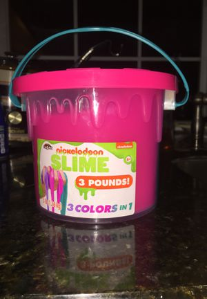 NEW! Nickelodeon tri-colored slime- 3 pound bucket! for Sale in West Carson, CA