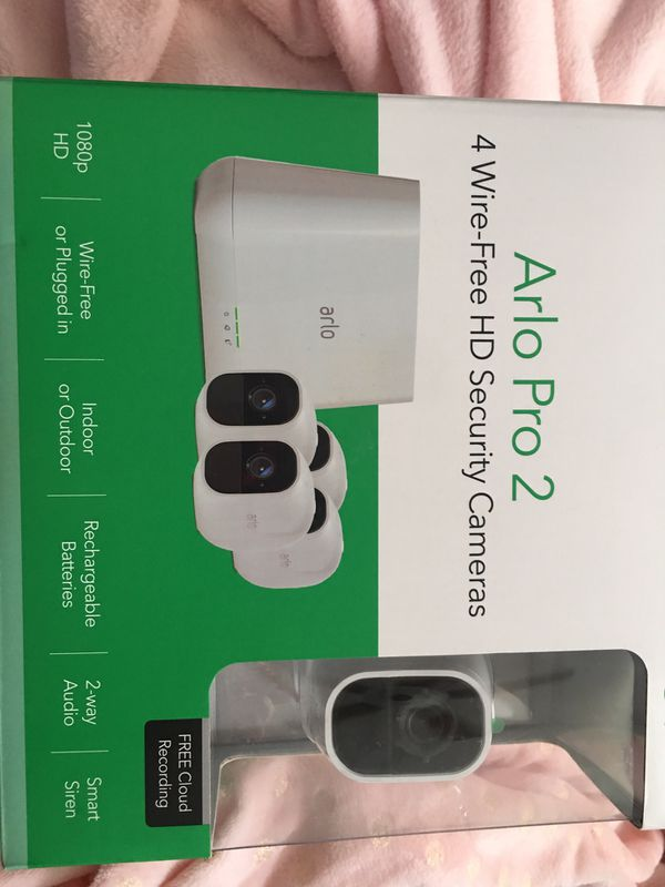 Arlo Pro 2 (4 wire-free HD Security Cameras) for Sale in Pipe Creek, TX -  OfferUp