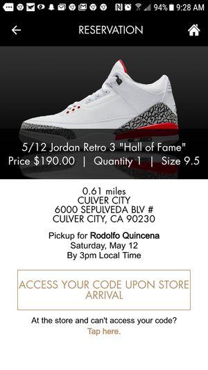 1118af0c34b33c jordan 3 black cement size 9 for Sale in Los Angeles
