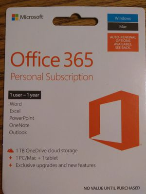 Office 365 1-year subscribtion for Sale in Chicago, IL