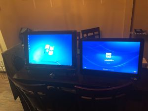 Touch screen computers. Big one is a HP. Smaller one is locked and is a Dell Inspiron One for Sale in Houston, TX