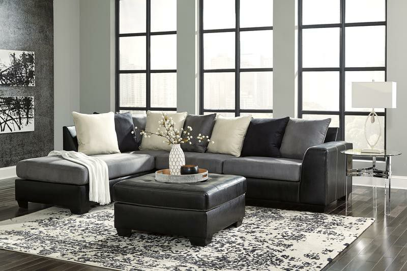 Jacurso Charcoal LAF SectionalAshley ❤️ ❤️& couch, living room, sofa👍
