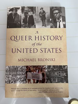 Photo A Queer History of the United States by Michael Bronski and Pregnancy and Power by Rickie Solinger