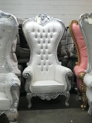 Free nationwide delivery | silver leaf throne chairs king queen princess royal baroque wedding event party photography hotel lounge boutique furnitur for Sale in Chicago, IL