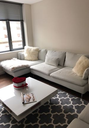 Sofa, table and pillows for Sale in Boston, MA