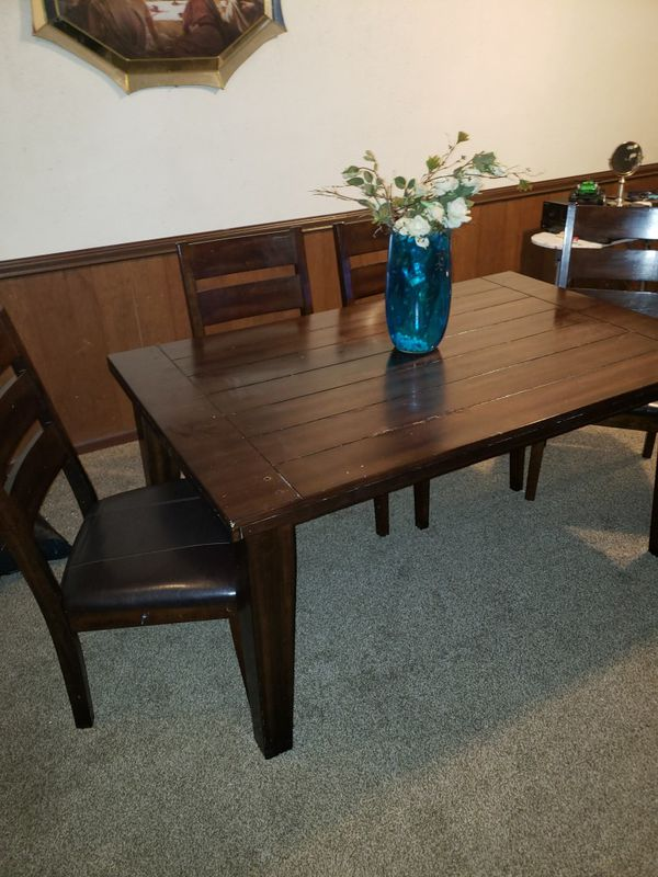 Dining Room Chairs Kansas City dining room table and 4 chairs for sale in kansas city, mo - offerup