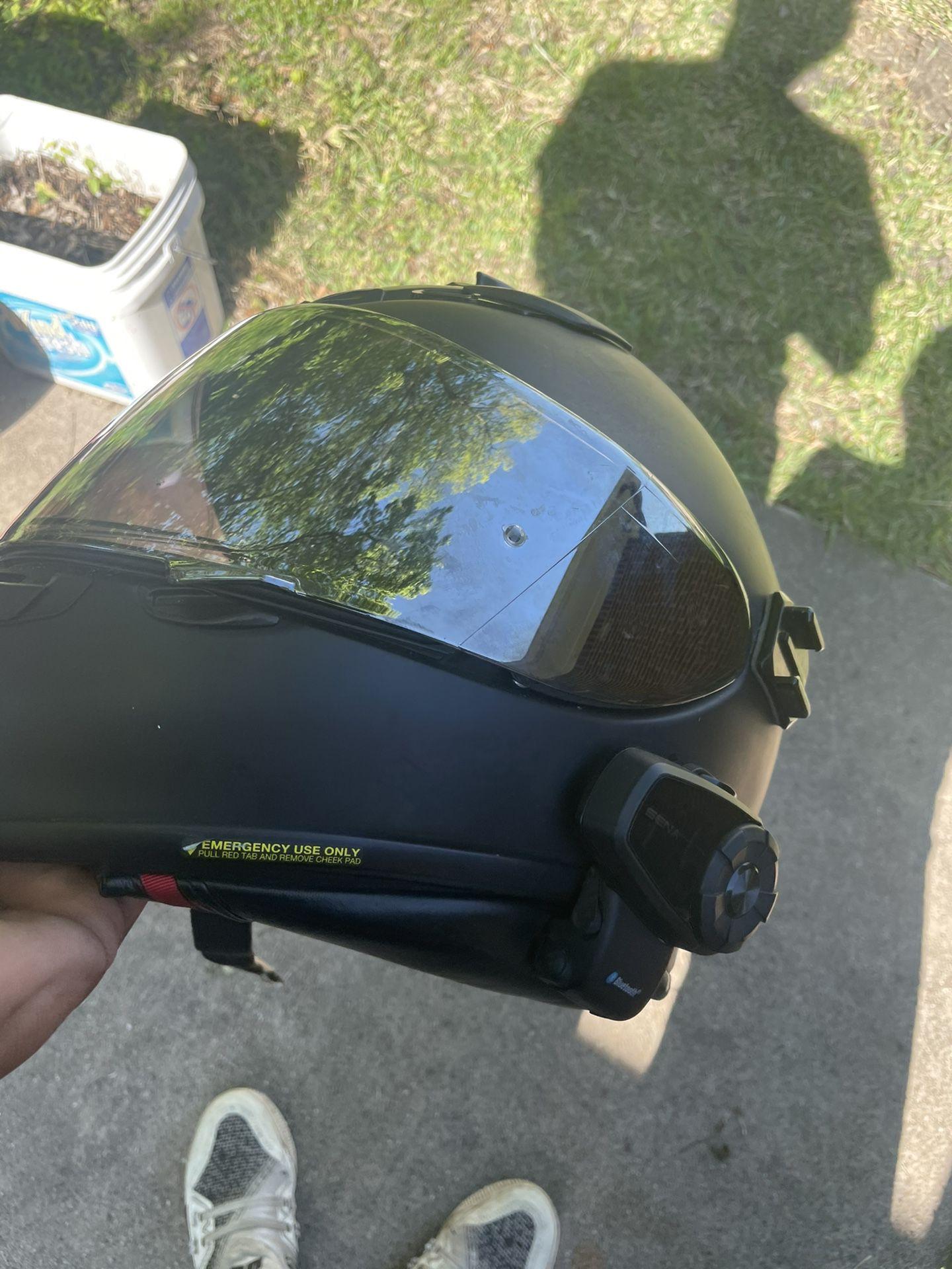 Photo Shoei Rf 1200 With Senna Bluetooth Price Is Firm !