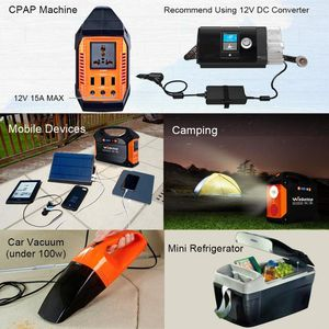 Photo Webetop 155Wh 42000mAh Portable Generator Inverter Battery 100W Camping Emergency Home Use UPS Power Source Charged by Solar Panel
