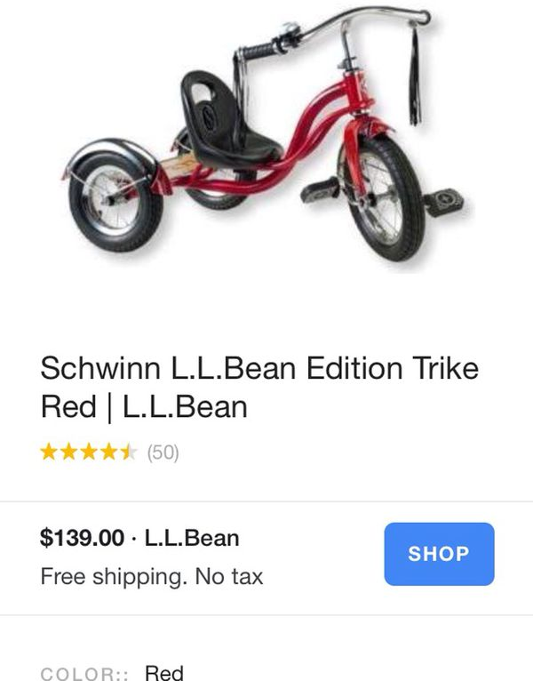 b9f08c9a2 Schwinn L.L. Bean Edition Tricycle Bike Hipster kid! for Sale in ...