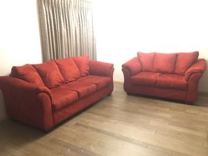 Red Sofa and Love Seat - Great Condition! for Sale in Snohomish, WA